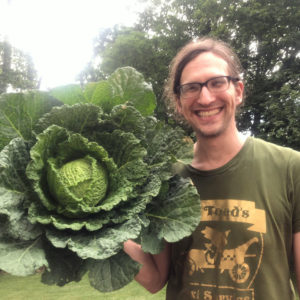 Nicholas with a rather large cabbage